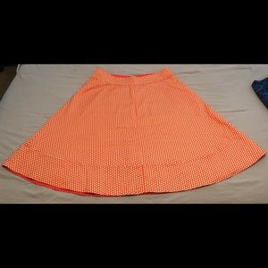 Lane Bryant NWOT size 18 orange polka dot skirt